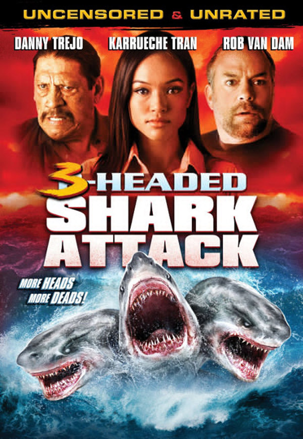Us poster from the movie 3 Headed Shark Attack