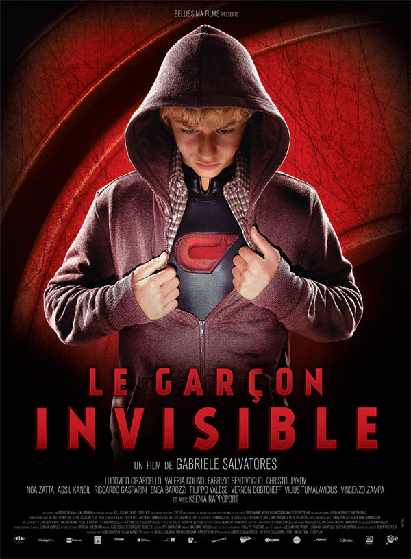 French poster from the movie The Invisible Boy (Il ragazzo invisibile)