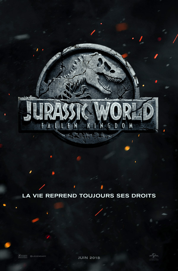 French poster from 'Jurassic World: Fallen Kingdom'