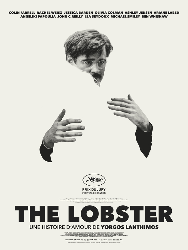 French poster from the movie The Lobster