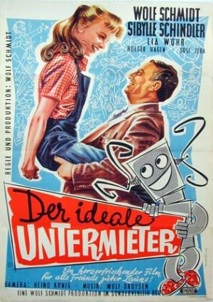 German poster from the movie Der ideale Untermieter