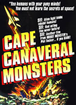 Affiche américaine de 'The Cape Canaveral Monsters'