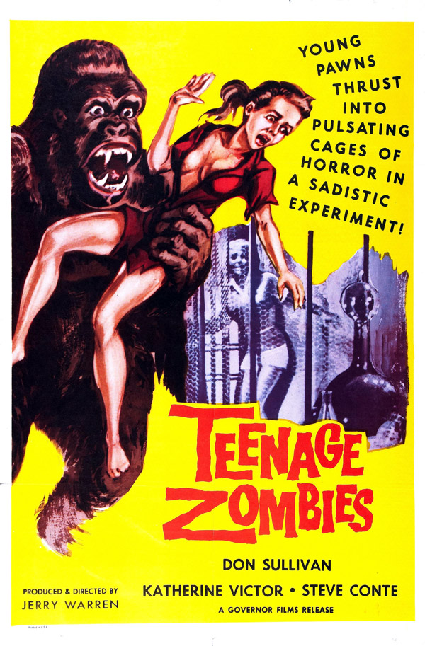 Us poster from the movie Teenage Zombies