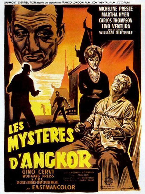 French poster from the movie Mistress of the World (Les mystères d'Angkor)