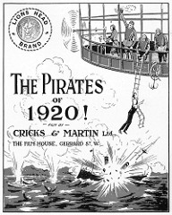 British poster from the movie Pirates of 1920