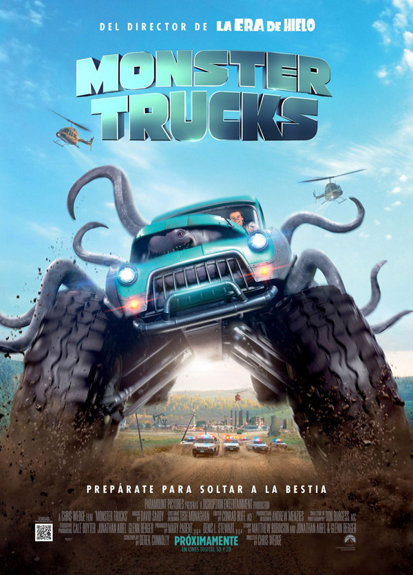 Affiche américaine de 'Monster Cars'