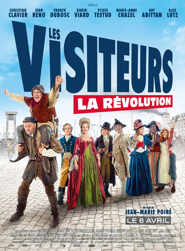 French poster from the movie Les Visiteurs : la révolution