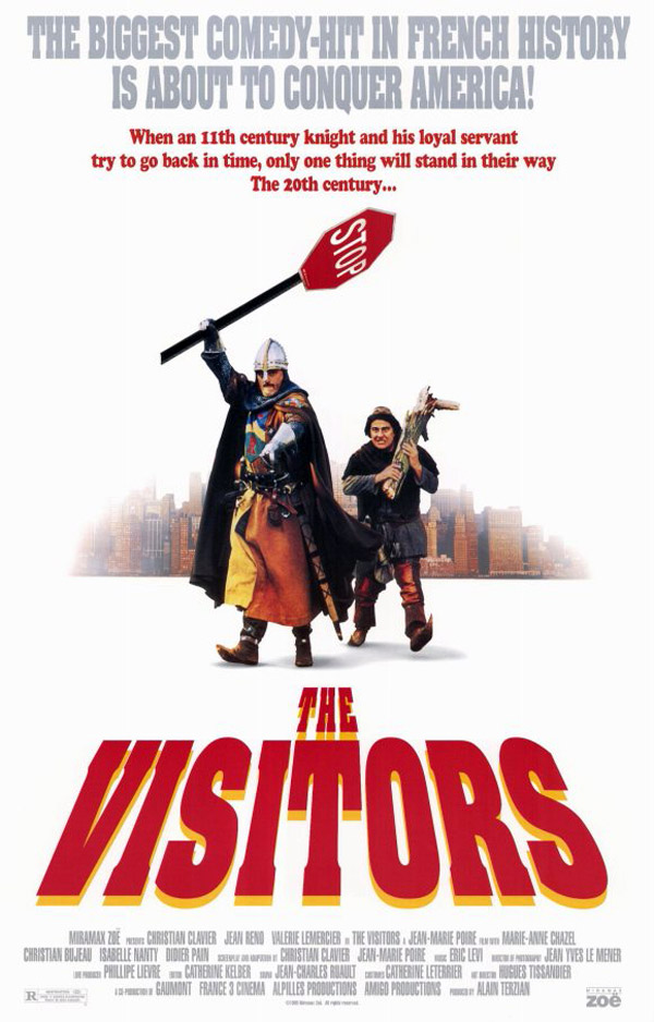 Unknown poster from the movie The Visitors (Les visiteurs)