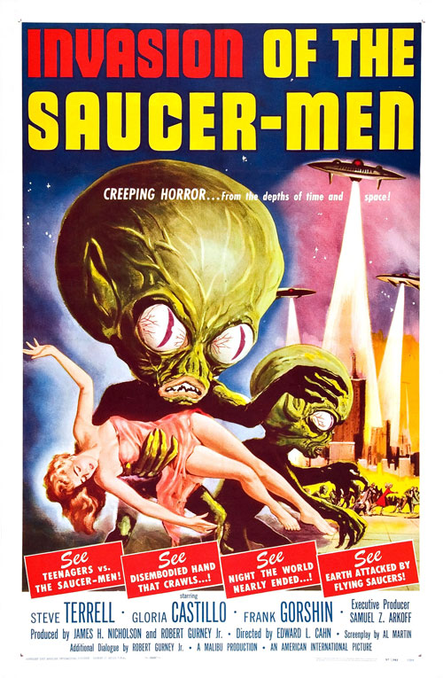 Affiche américaine du film Invasion of the Saucer Men