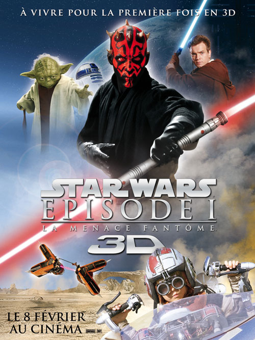 Affiche française du film Star Wars : épisode I - La Menace fantôme (Star Wars: Episode I - The Phantom Menace)