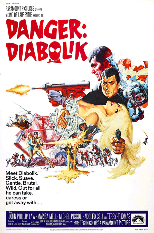 Us poster from the movie Danger: Diabolik (Diabolik)