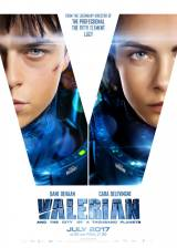 Movie poster from Valerian and the City of a Thousand Planets, in theaters on July 21, 2017