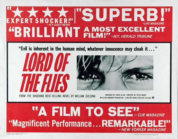"a review of the movie lord of the flies The classic william golding novel will be adapted into a movie for the third   intriguing new twist on the lord of the flies in its upcoming movie remake   deep end"" and ""what maisie knew"" received mostly positive reviews."
