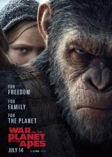 Movie poster from War of the Planet of the Apes, in theaters on July 14, 2017
