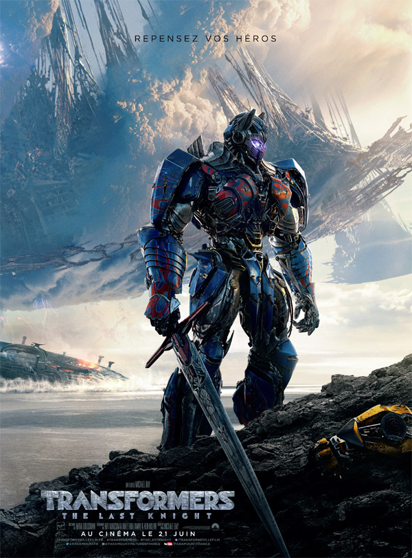 Affiche française de 'Transformers: The Last Knight'