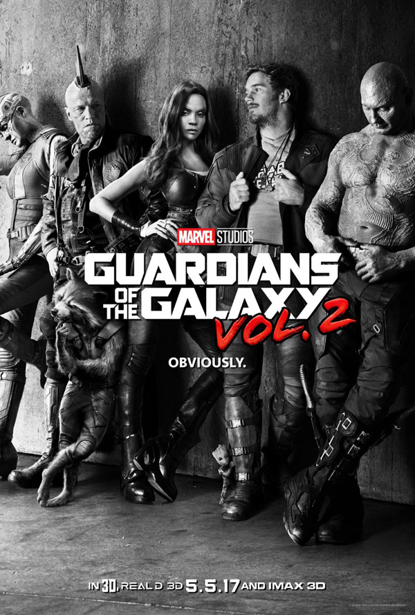 Affiche américaine du film Les gardiens de la galaxie 2 (Guardians of the Galaxy Vol. 2)