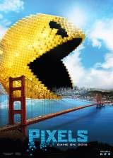 Movie poster from Pixels, in theaters on July 24, 2015
